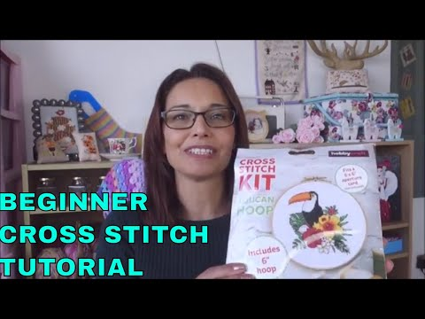 Beginner Cross stitch tutorial (CC) How to start with a kit