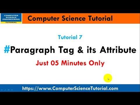 Paragraph Tag In Html