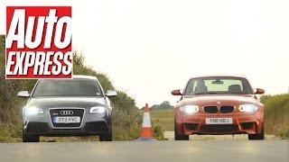 Audi RS3 Sportback v BMW 1 Series M Coupe Drag Race - Auto Express