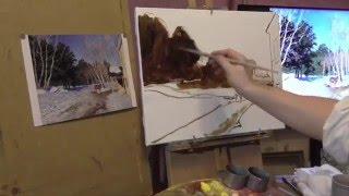 видео Левитан картина Озеро. Русь