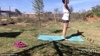 Clase de yoga, elemento fuego.