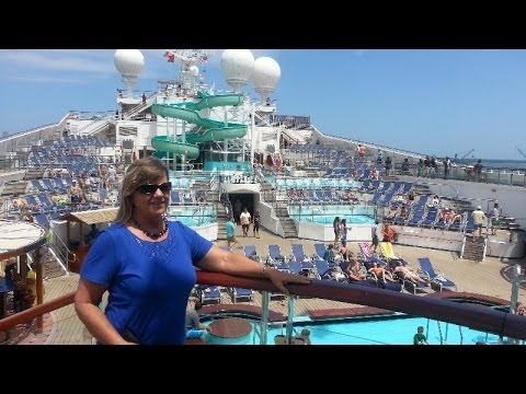 Caribbean cruise on the Carnival Glory: East and West Caribbean.