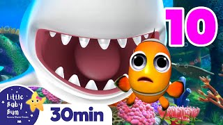 10 Little Fishes \u0026 Sharks +More Nursery Rhymes and Kids Songs | Little Baby Bum