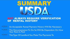 Do you have to prove previous rental history in order to qualify for a USDA loan?