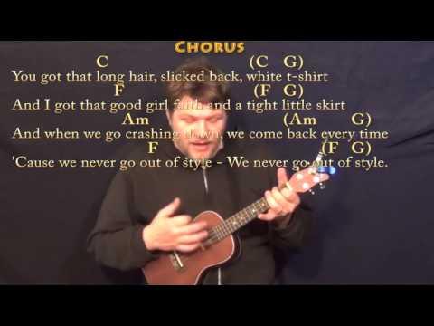 Style (Taylor Swift) Ukulele Cover Lesson in C with Chords/Lyrics