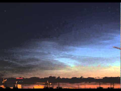 видео: Динамика серебристых облаков