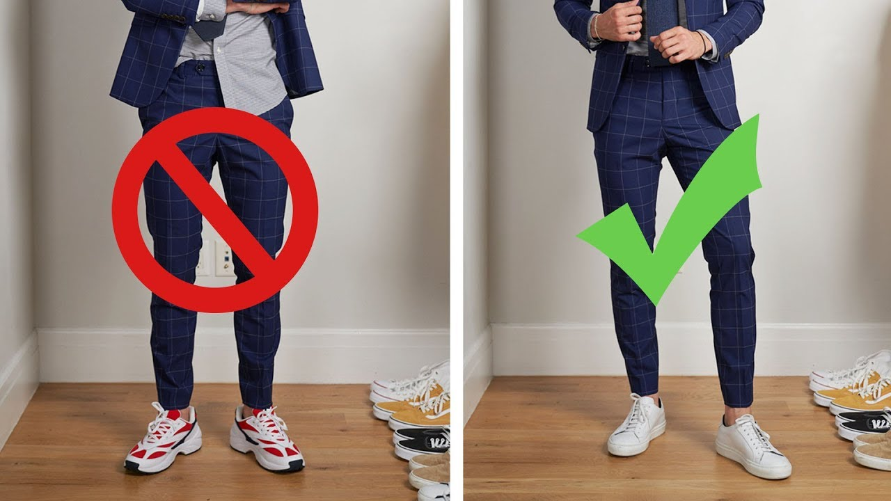 How to Wear Suits With Sneakers | 8 Do