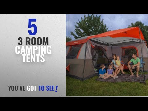 Top 10 3 Room Camping Tents [2018]: Ozark Trail 16x16-Feet 12-Person 3 Room Instant Cabin Tent With