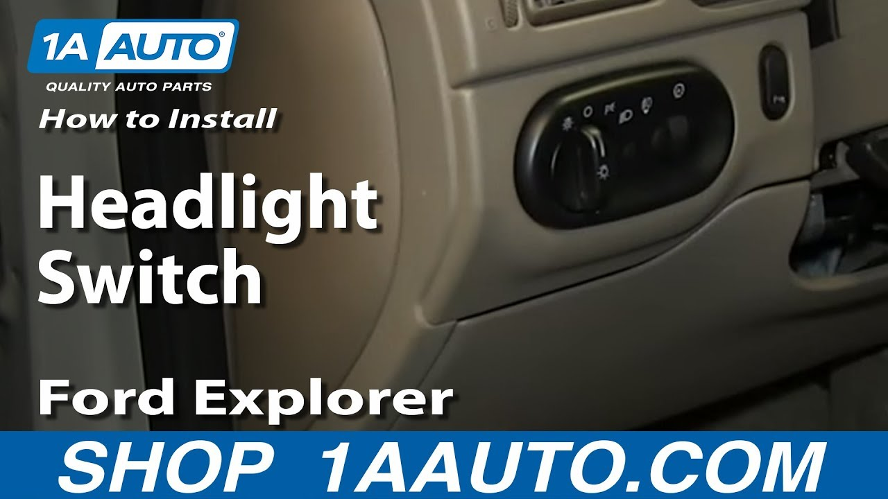 How To Install Replace Headlight Switch Ford Explorer Mercury Mountaineer  YouTube