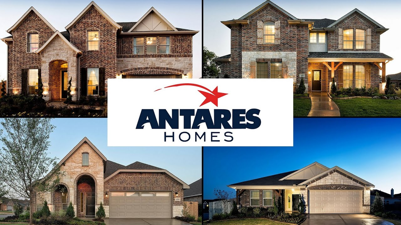Antares Homes Concept 1944 Elevation C Right Garage with Stone - YouTube