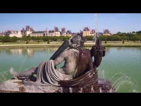 Le château de fontainebleau filmé par un drone