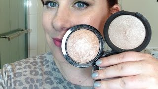 M.A.C. Mineralize Skinfinish Soft and Gentle Vs. Becca Shimmering Skin Perfector in Opal