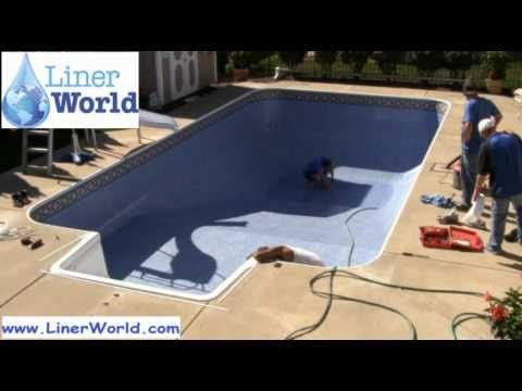 how to cut skimmer hole in pool liner