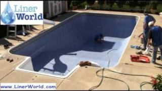 How To Install In Ground Swimming Pool Liners In 5 Minutes Or Less - Linerworld Demo Video