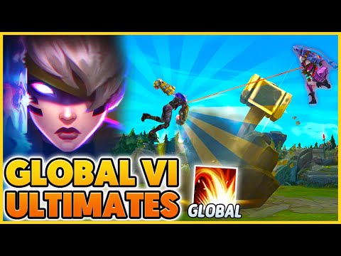 """FUNNY """"GLOBAL ULTS"""" (NEW Psi Ops Vi Skin) - BunnyFuFuu   League of Legends"""