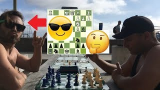 Is This FAST New Guy Gonna Hustle The Russian Chess Player???