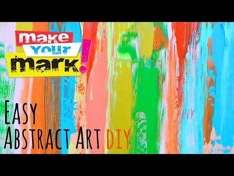 how to easy abstract art youtube
