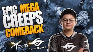 Dota 2 #TI9 MEGA CREEP COMEBACK - Secret vs Mineski - THE INTERNATIONAL 9