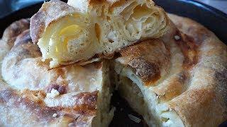 НАСТОЯЩАЯ СЕРБСКАЯ ПИТА, слоёный пирог с сыром, вытяжное тесто.