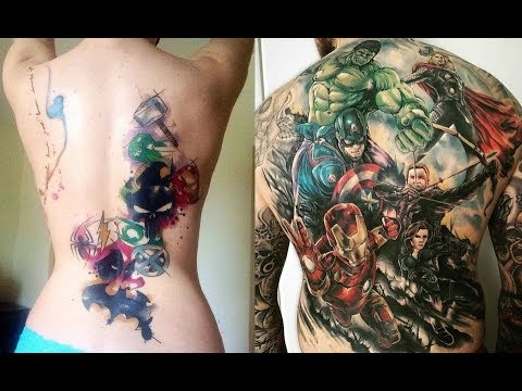 Marvel Tattoos That\'ll Make You Want to Be a Superhero - YouTube