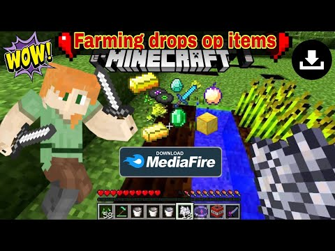 Minecraft but farming drops op items mod download in minecraft bedrock edition