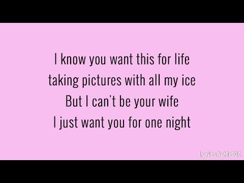 Destiny Briona - 1 Night (Lyrics/Spedup)
