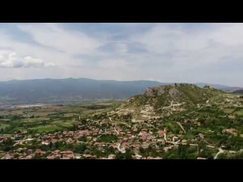 Ilindentsi - a drone flying to reveal a beautiful village in Bulgaria hidden by rock formations