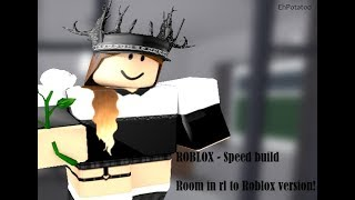ROBLOX, Bloxburg - Speed build of my room in rl. (Read desc).