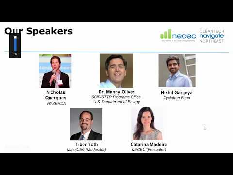 NECEC's Investor and Corporate Partner Readiness Webinar Series 2018 #1