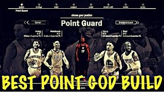 nba 2k17 the best point god guard build after patch 1