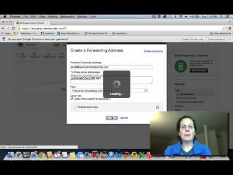 how to find default email in godaddy