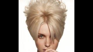 Вечерние причёски на короткие волосы 2.