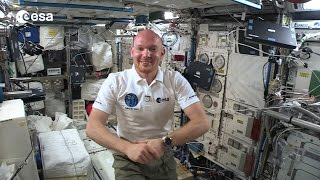 ESA astronaut Alexander Gerst sends greeting to Euro-Space-Day