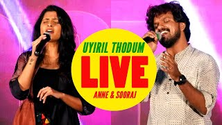 Anne Amie & Sooraj Santhosh Performing Live | Uyiril Thodum | Kumbalangi Nights
