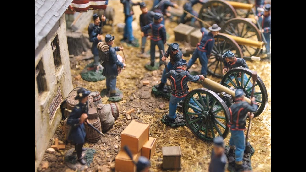 Military Miniatures Gettysburg Battle Civil War Video