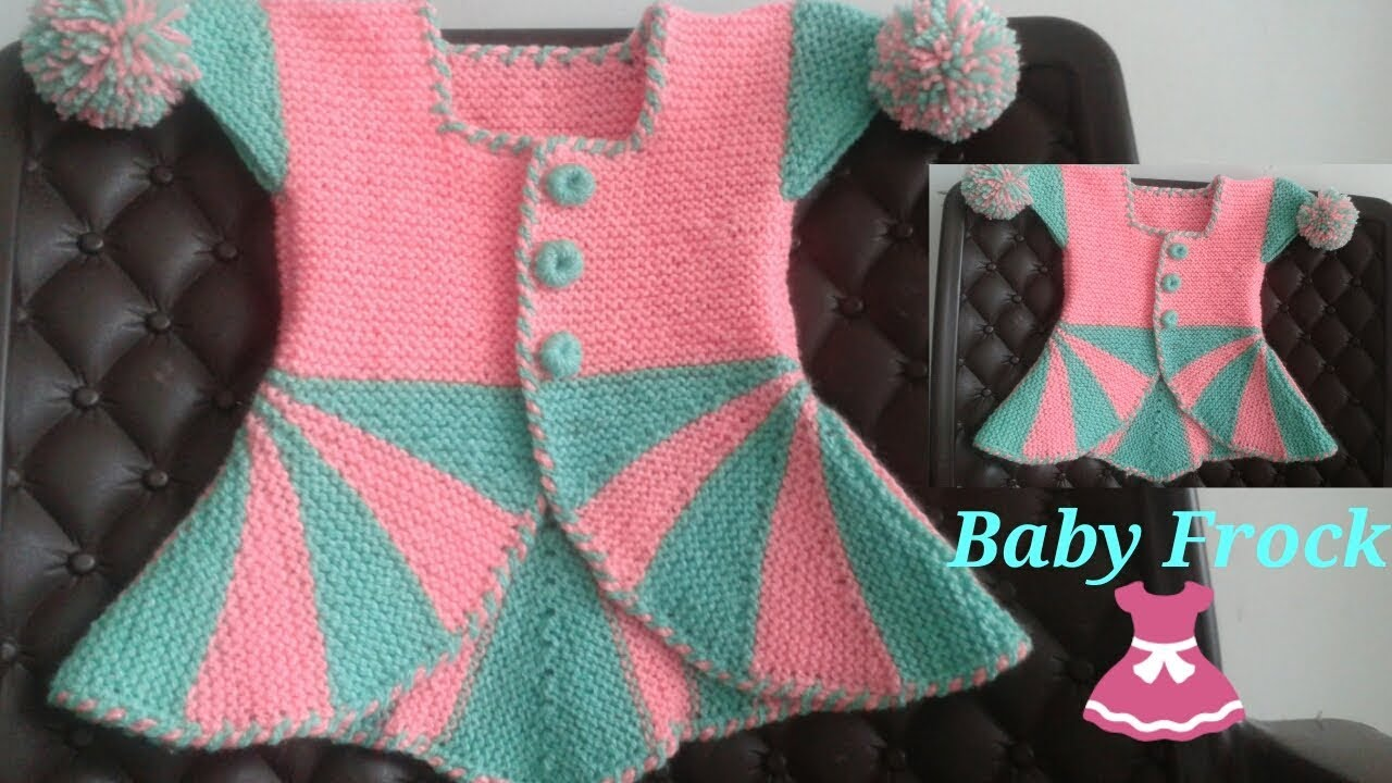 4929b49a3 Easy Baby Frock knitting ♡