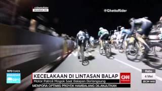 Kecelakaan di Lintasan Balap Sepeda