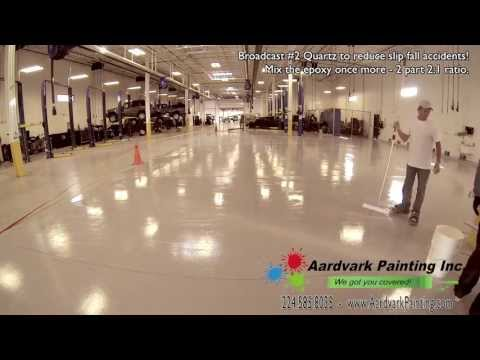 Commercial and industrial epoxy flooring contractors in Chicago