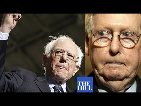 Bernie Sanders FIRES BACK on Mitch McConnell Sen. Bernie Sanders slams Sen. Mitch McConnell for refusing to put $2000 checks to an up or down vote., From YouTubeVideos