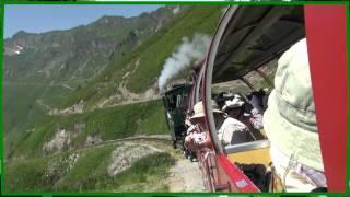 スイス ブリエンツ湖湖上遊覧 蒸気機関車