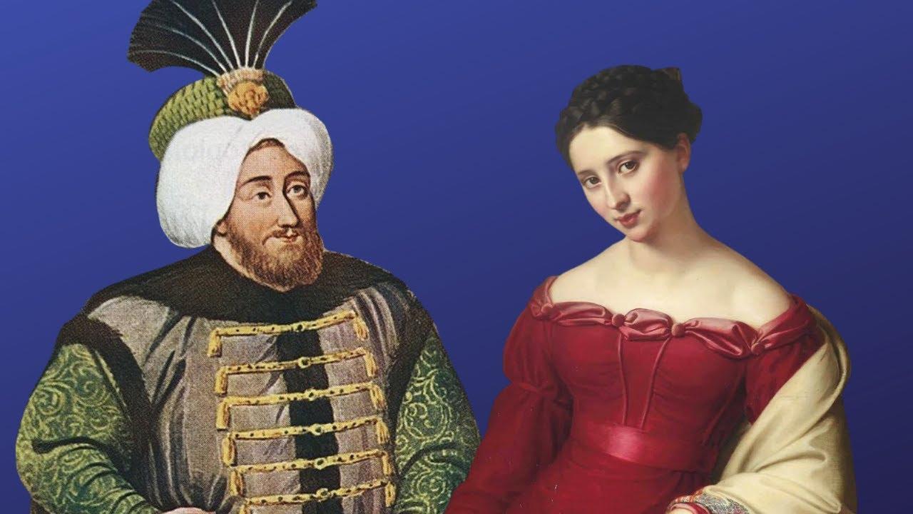 Невероятно красивая женщина в гареме османского султана