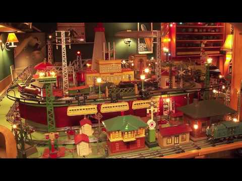 Glenn S Pre War Tinplate Toy Train Layout Youtube