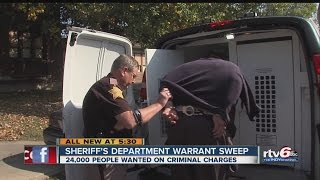 Sheriff's department warrant sweep