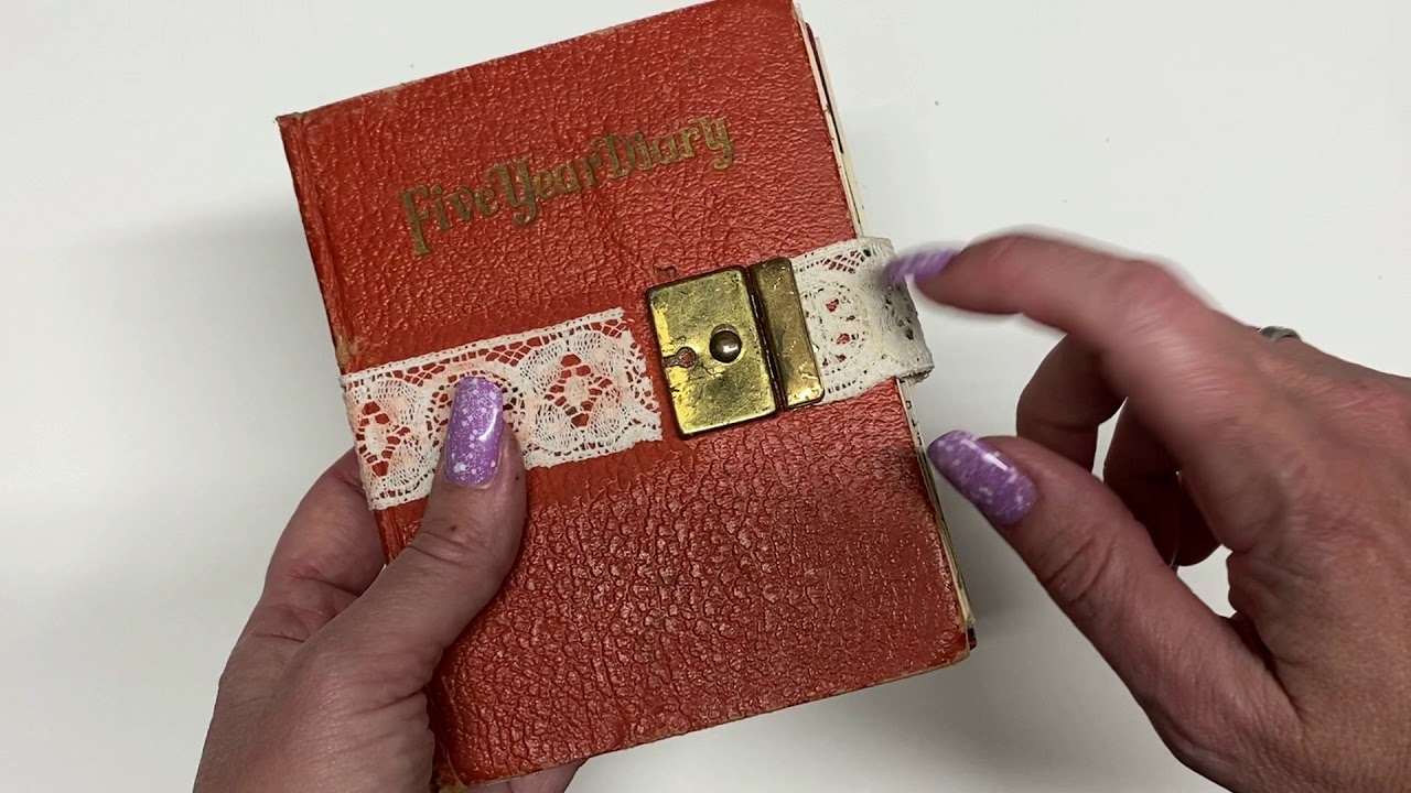Download Upcycle Vintage 5 Year Diary to an Alice In Wonderland Junk Journal