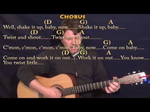 Twist and Shout (The Beatles) Guitar Cover Lesson with Chords/Lyrics - D G A