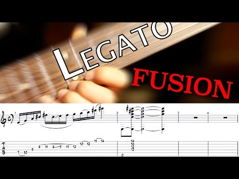 Fusion Jazz Rock  | Legato Lick | GUITAR LESSON TV
