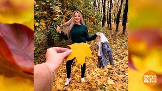 Фото с осенними листьями. Доброе утро. Фрагмент выпуска от 22.10.2021