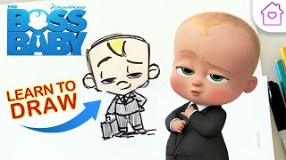 How to Draw BOSS BABY! | #CAMPDREAMWORKS DRAW-ALONG