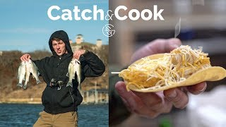 GOOGAN White BASS CATCH and COOK! (Fish Tacos)