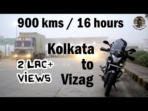 900 kms - 16 hours | Kolkata to Vizag Road Trip by Bike - Day 1